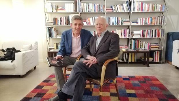 Emilio Lledó y Cipriano Játiva presentaron el libro 'Palabras en el tiempo'