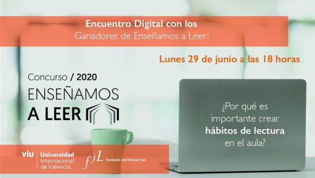 La VIU y la Fundación José Manuel Lara organizan un encuentro digital con los ganadores del certamen 'Enseñamos a leer'