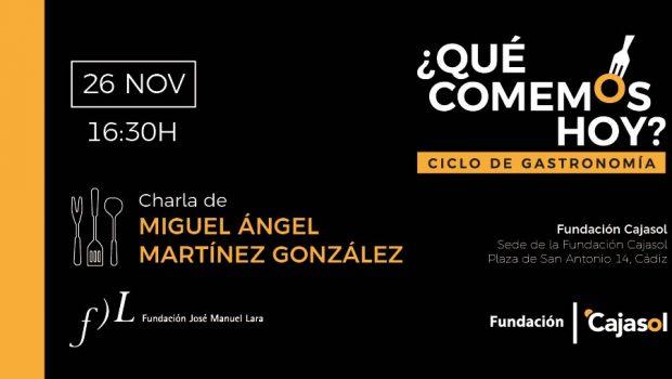 Miguel Ángel Martínez-González, Ángela Quintas y Odile Fernández participan en el ciclo de gastronomía '¿Qué comemos hoy?'